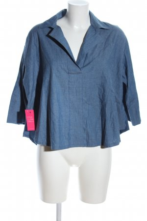 Jeansbluse blau meliert Casual-Look