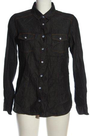 Chemise en jean noir style décontracté