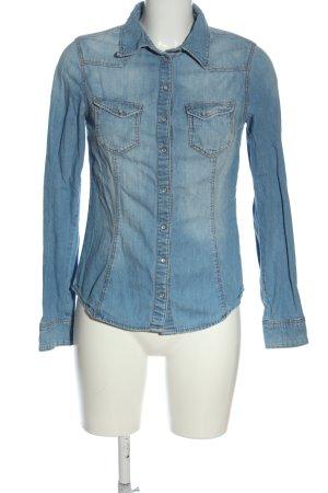 Camicia denim blu stile casual