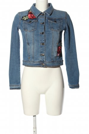 THE ROCKN REV Jeansjacke Blumenmuster Casual-Look