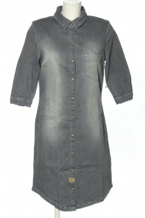 ZUSSS Jeansjurk lichtgrijs zakelijke stijl