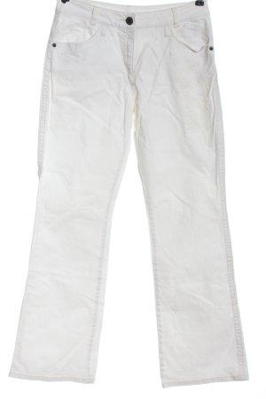 Jeans a zampa d'elefante bianco stile casual