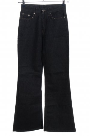 GRAUZONE Denim Flares black casual look