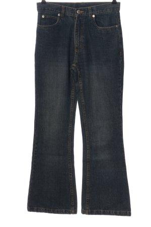 Yadou Jeansschlaghose blau Casual-Look