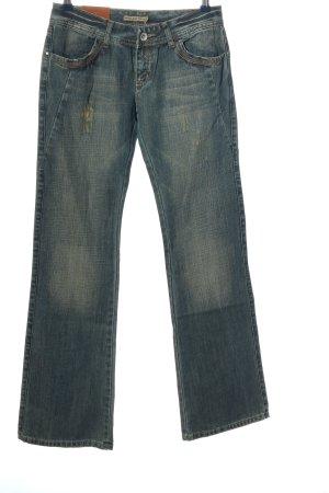 Jeansschlaghose blau Casual-Look