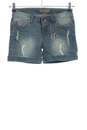 Short en jean bleu style décontracté
