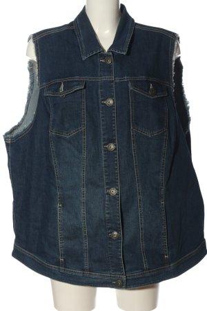 Smanicato jeans blu stile casual