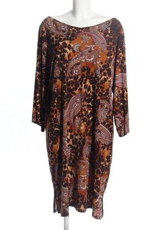Nina Leonard Vestido de tela de jersey marrón look casual