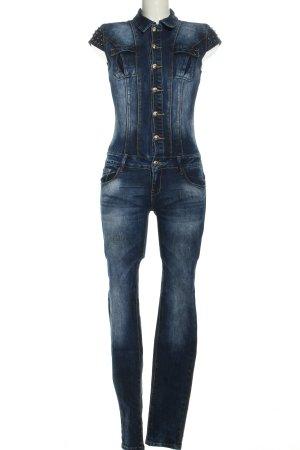 Jumpsuit blau Casual-Look