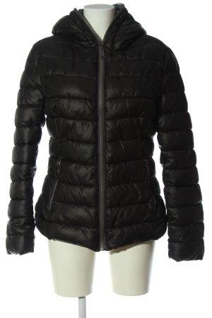 Hoody black quilting pattern casual look