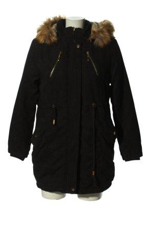 Veste à capuche noir style décontracté