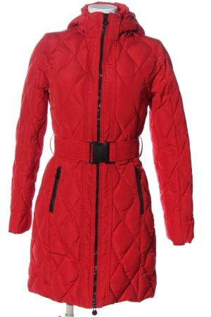 Veste à capuche rouge style décontracté
