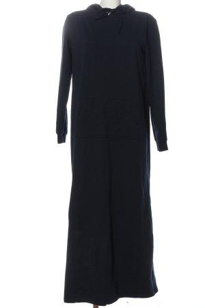 Robe à capuche bleu style décontracté