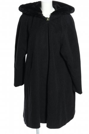 Capuchon jas zwart casual uitstraling