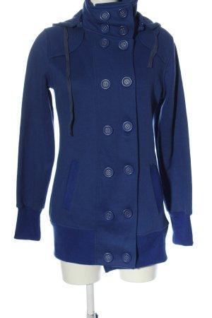 Manteau à capuche bleu style décontracté