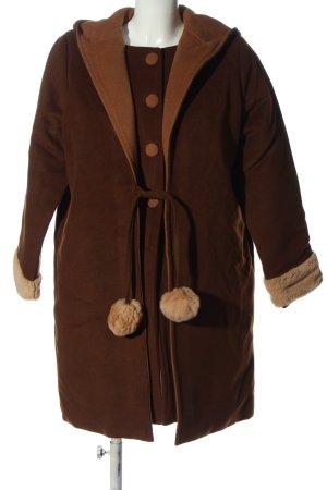DADAZIZHI Manteau à capuche brun-rose chair style décontracté