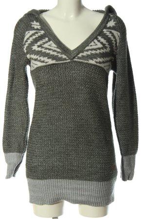 BERG Sweter z kapturem Graficzny wzór W stylu casual