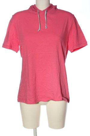uncover Top à capuche rose style décontracté