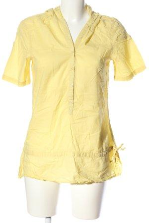 Camicia con cappuccio giallo pallido stile casual
