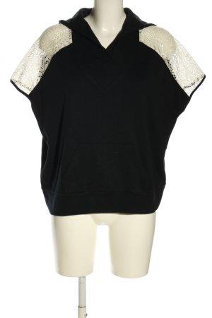 Camicia con cappuccio nero-color carne stile casual