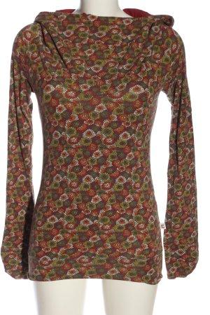 casanita Top à capuche motif de fleur style décontracté