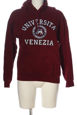-8- Venice Hooded Sweatshirt red printed lettering casual look