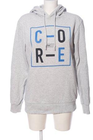 Hooded Sweatshirt light grey-blue flecked casual look