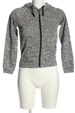 ambiance apparel Kapuzensweatshirt hellgrau meliert schlichter Stil