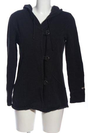 Hooded Sweatshirt black casual look