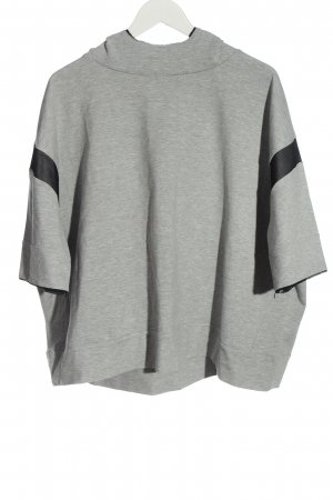 lukka.lux Kapuzensweatshirt hellgrau meliert Casual-Look