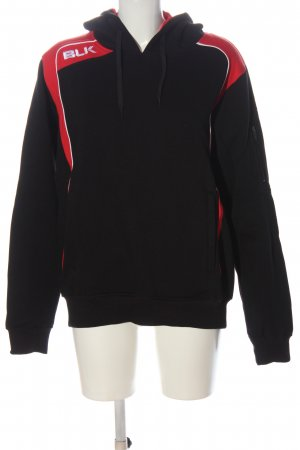 BLK 1978 Sweatshirt met capuchon zwart-rood atletische stijl