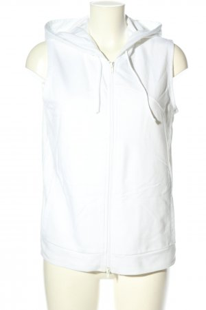 Hooded Vest white casual look