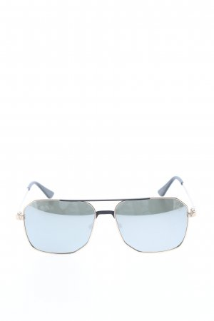 Square Glasses gold-colored-blue casual look