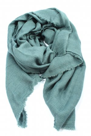 Cashmere Scarf turquoise casual look