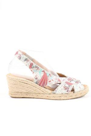Sundias Zapatos de cuña estampado floral look casual