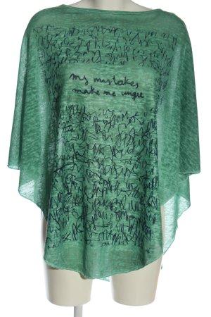 Sa.Hara Jersey kimono verde-azul moteado look casual