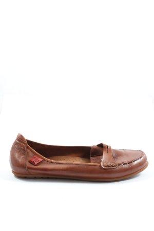 Mokasyny brązowy W stylu casual