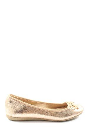 Suri Frey Klassische Ballerinas goldfarben Casual-Look