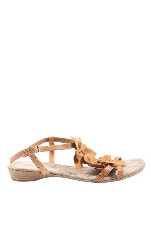 Comfortabele sandalen licht Oranje casual uitstraling