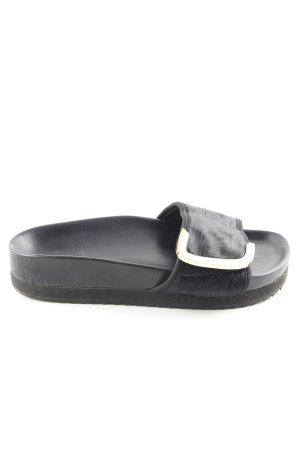 Komfort-Sandalen schwarz Casual-Look