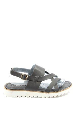 ansonia Sandalias cómodas gris claro look casual