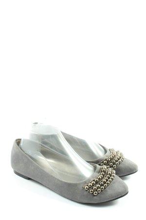 Bailerinas gris claro look casual