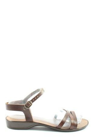 Wygodne sandały brązowy W stylu casual