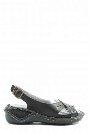 PWR Komfort-Sandalen schwarz Casual-Look