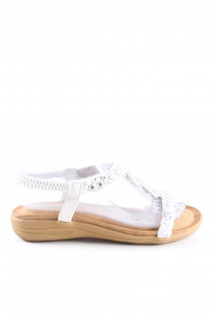 second lady Comfort Sandals silver-colored-white casual look
