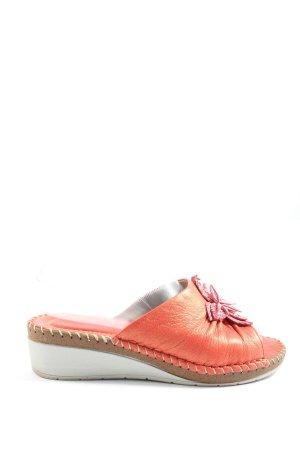 Sandales confort orange clair style décontracté