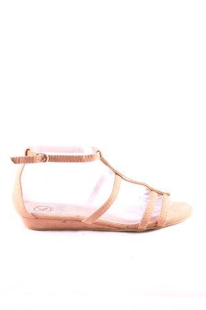 Comfortabele sandalen nude casual uitstraling