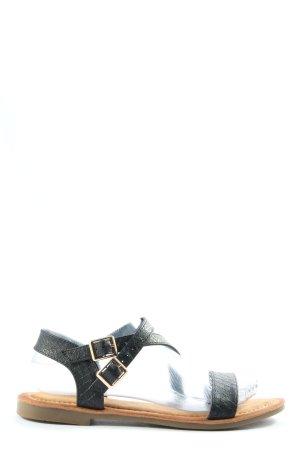 super cracks Comfort Sandals black animal pattern casual look