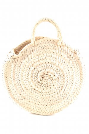 Basket Bag cream cable stitch casual look