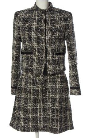 vanila collection Tailleur noir-blanc motif à carreaux style classique